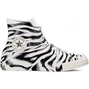 Converse black and white zebra print sneakers